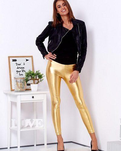 złote legginsy